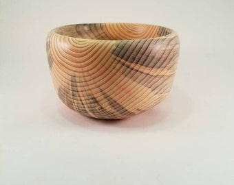 Reclaimed blue pine wooden bowl