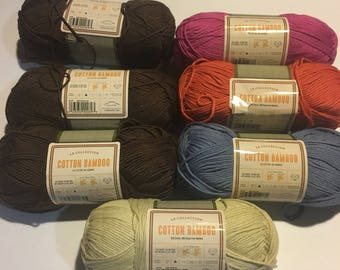 7 Skeins of Cotton Bamboo Blend Yarn