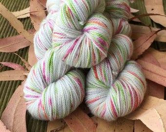Wallpaper Roses hand dyed sock yarn