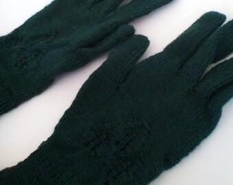 Bianca Gloves - Dark Forest Green - Size S