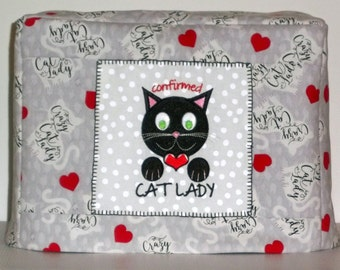 Crazy Cat Lady, I Love Cats, Cat Toaster Cover, Two Slice Toaster Cover
