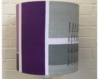 Original Vintage Lucienne Day Plantation Fabric 35cm Drum Lampshade Mid Century