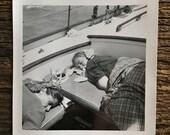 Original Vintage Photograph Sleeping Sailors
