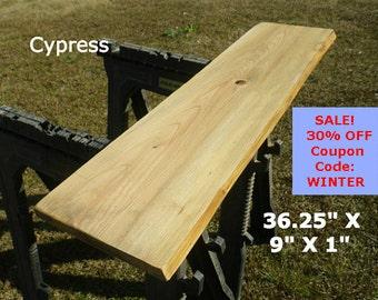 Live Edge Swamp Cypress Finished Wood Slab DIY Floating Shelf, Natural Edge Shelving, Side Table, Foyer Table Top, Floating Table Top 2045