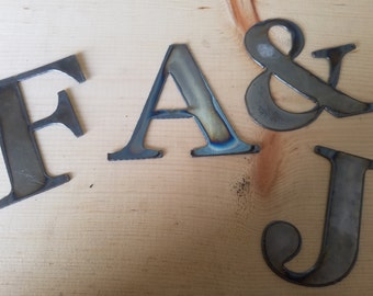 """6"""" Tall  Metal Letters A-Z  and Numbers 0-9 FREE SHIPPING"""