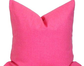 SOLID PINK PILLOW.20 Inch. Pink Pillow. Pillow Cover.Decorative Pillow Cover.Solid Pink Throw Pillow. Pink Cushions.Pink Cushion Cover, cm