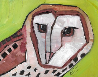 Barn Owl Original oil Painting