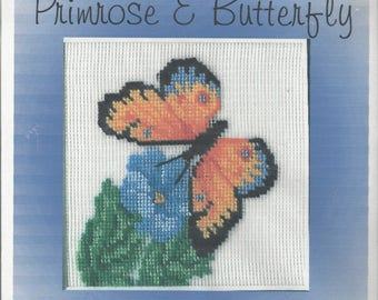 "Clearance - ""Primrose & Butterfly"" Silk Gauze Kit by Dreams of Stitches"