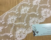 1 yard of 6 inch Off White Chantilly lace trim for bridal, veils, altered couture, costume by MarlenesAttic - Item 4UU
