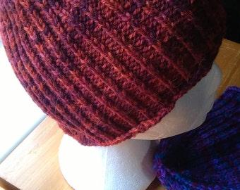 Rainbow Brown Alpaca Hat