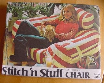 VINTAGE 1980s Butterick Stitch 'n Stuff Chair Pattern 0101,  Uncut