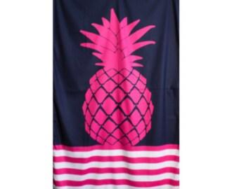 Pink Pineapple Beach/Pool Towel