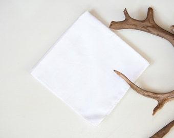 Classic White Handkerchief