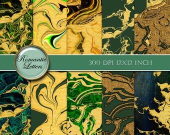 Gold marbled paper Digital paper gold digital scrapbook paper digital printable Scrapbook background Paper gold foil gold glitter