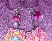 "Sailor Moon AND Sailor Chibi Moon 1.5"" Charms"