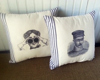 Steampunk - Steampunk Decor -  Industrial Decor -  - Steampunk Goggles - Steampunk Pillows - Steampunk Gift - Steampunk Home Decor
