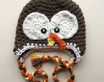 READY TO SHIP - Crochet Hat | Tom The Turkey