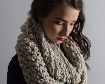 big oversized scarf oversized scarf wrap crochet womens infinity scarf winter scarf warm infinity scarf tan wool  scarf winter loop scarf