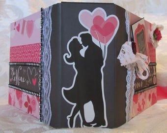 Valentine's Day Love Handmade Mini Scrapbook Album Premade
