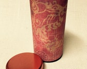 Chinese dragon red tea canister