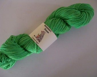 8ply/DK weight cotton.   Hand-dyed  100gm-  Grass