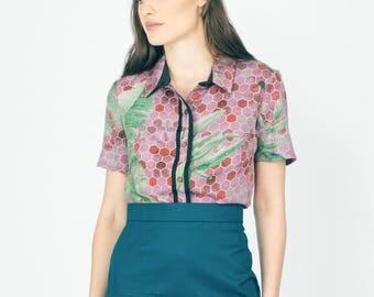 Palaka printed blouse