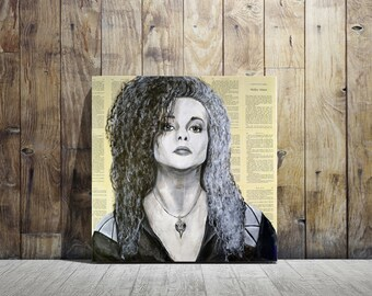 Harry Potter Canvas Print of Bellatrix LeStrange