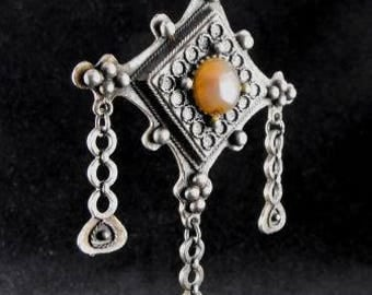 Gothic Coro Necklace Wonderful Early Design Art Glass Pendant A Very Unusual Find