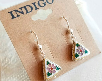 Winter Flower, Sterling Silver Earrings