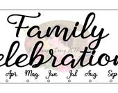 Custom Family Celebration Board