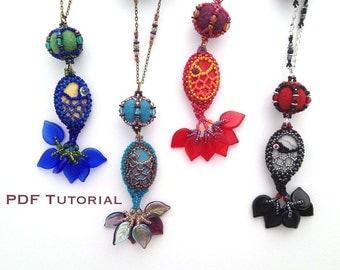 Catch of the Day Beaded Fish Pendant and Necklace PDF Tutorial