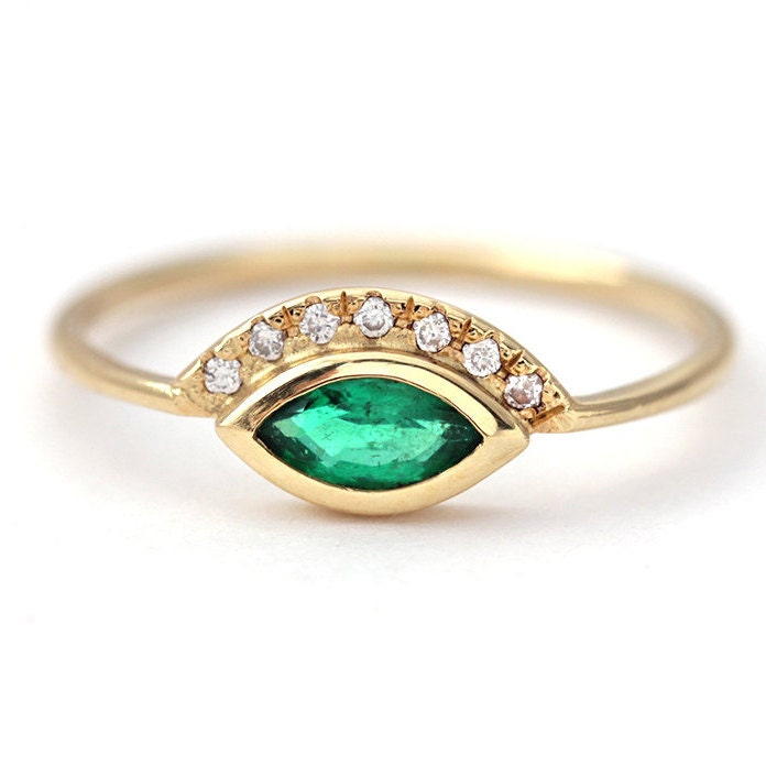 emerald engagement ring gold emerald ring emerald