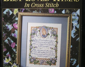 America's Best Loved Hymns in Cross Stitch, Leisure Arts 2744, 53 pages, Kooler Design Studio, color photos and charts, twelve popular hymns