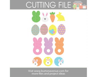 Easter Assortment Cut File (eps,svg, gsd,dxf, ai, jpg, png)