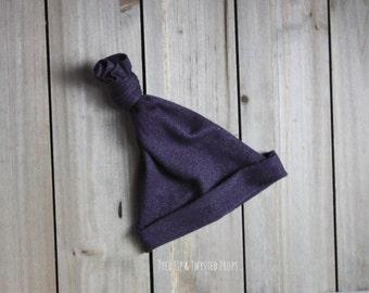 Purple Newborn Upcycled Hat Prop RTS