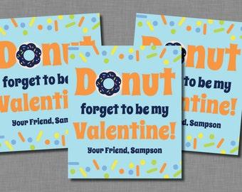 Doughnut Valentines boy donut sprinkles printable PDF