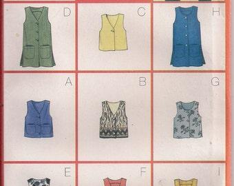 Butterick Sewing Pattern 6274 - Misses'/Misses' Petite Vest (14-18)