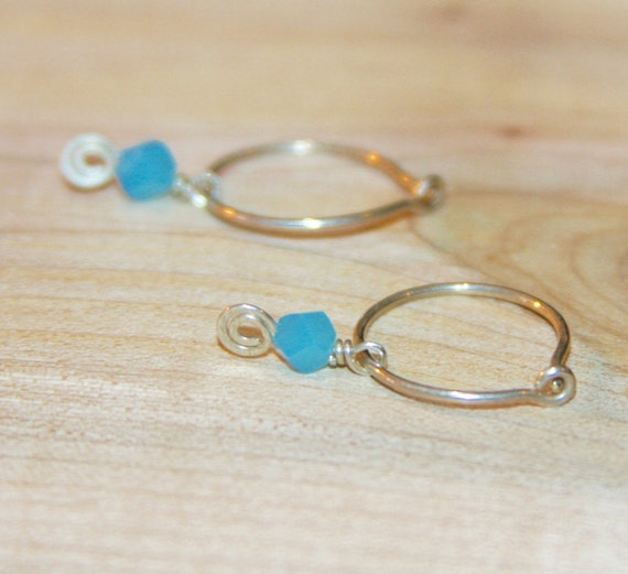 Small Blue Earrings: Small Blue Earrings. Small Silver Earrings. Small Hoop