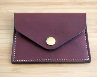 Auburn Card Holder - Handstitched leather wallet