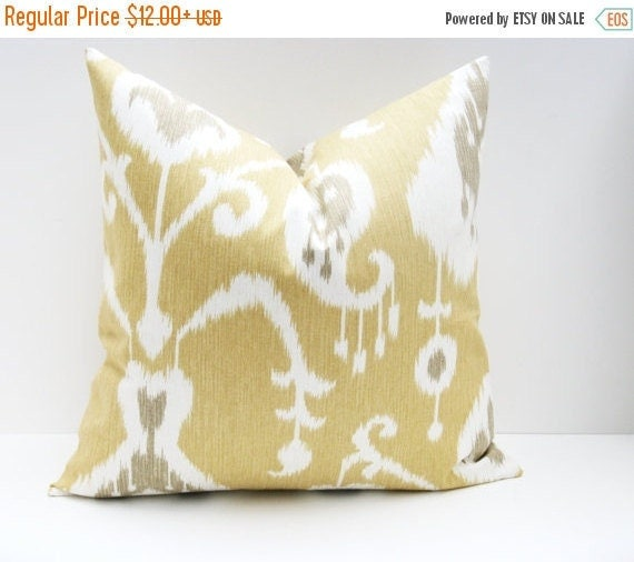 15% Off Sale IKAT PILLOW COVERS Throw Pillow Sets 20x20 inch pillows Decorative Throw Pillows 20 x 20  Pillows Cushion Covers printed fabric