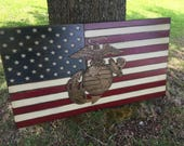 Hand Carved American Flag **last chance**