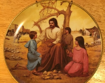 Collectible Jesus Plate - The Blessing of the Children