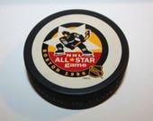 Vintage 1996 Boston NHL All Star Game Hockey Puck, sport collectible, hockey, Bruins, Vintage Hockey