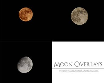 Moon overlays for Photoshop