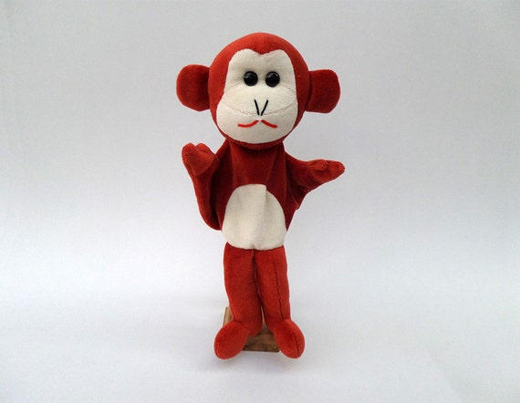 Monkey - brown hand puppet for tales for children