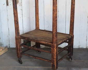 Industrial Antique Carpenters Factory Cart