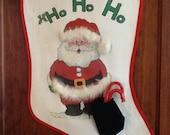 Santa Christmas Stocking Ho Ho Ho