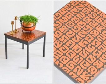 Copper table, copper mini plant stand, mini side table copper 1960s