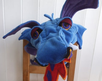 Bluebell the Dragon (ventriloquist glove puppet)