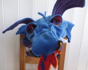 Bluebell the Dragon (ventriloquist glove puppet)